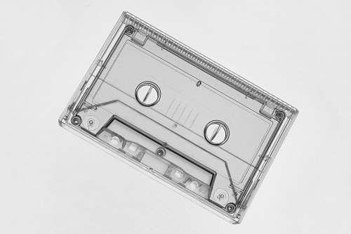 grey clear cassette videotape music