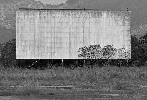 photo grey grayscale photography of billboard woree free for commercial use images