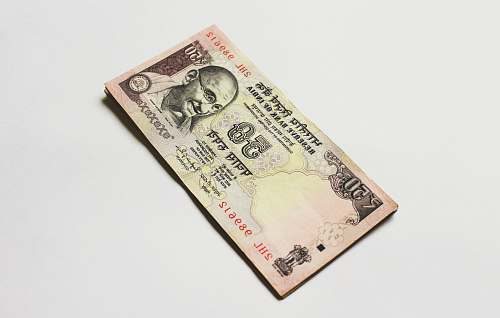 dollar 50 Indian rupee banknote money