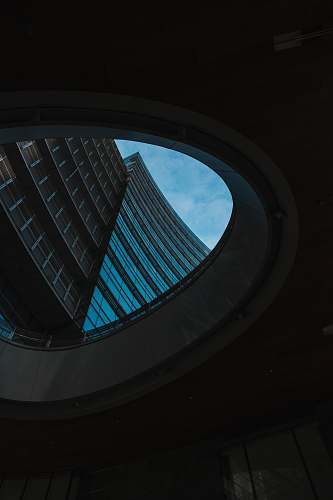 architecture brown high-rise building window