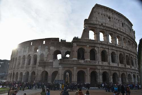 city Colosseum, Rome downtown