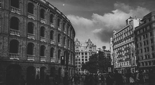 city grayscale photo of Rome black-and-white