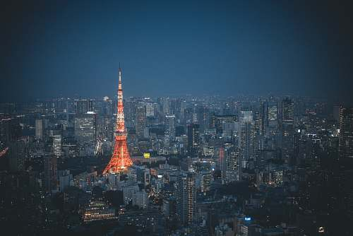 architecture Tokyo Tower, Japan tower