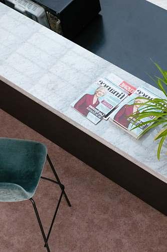 furniture Finance magazines on desk bordeaux