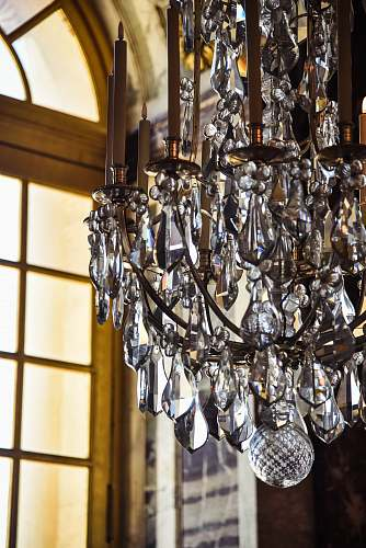 lamp turned-off clear glass chandelier crystal