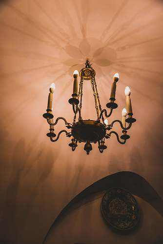 lamp turned-on chandelier house