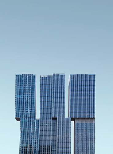 building black concrete building architecture