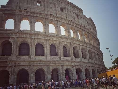 building Coliseum, Rome Italy architecture