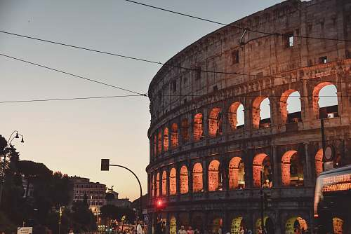 building Colosseum, Rome architecture