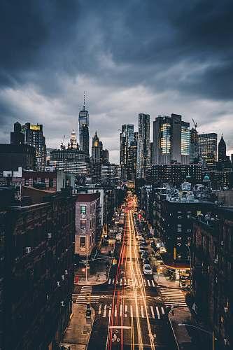 road skyline city scenery urban