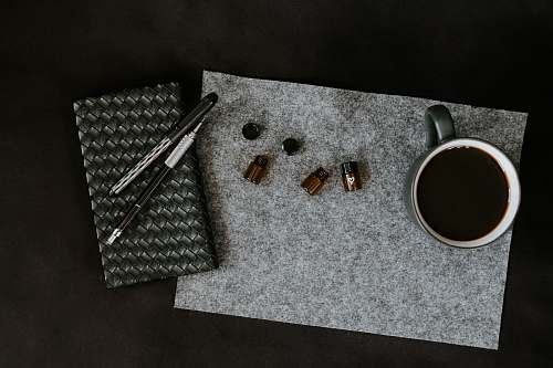 cup green cup on gray mat accessories