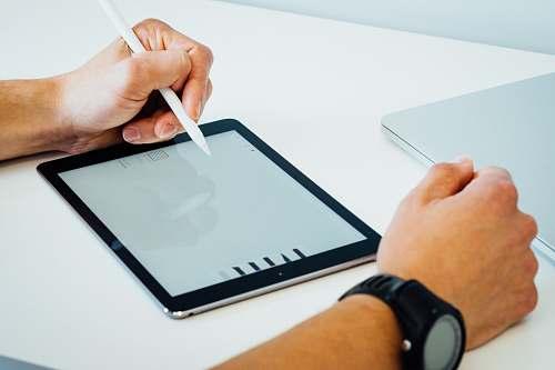 laptop black iPad electronics