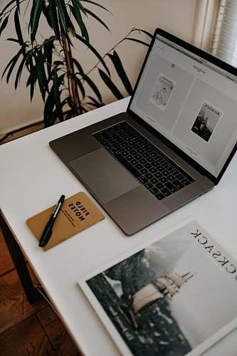 pc MacBook Pro on white table electronics