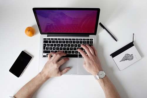 keyboard person using laptop computer laptop