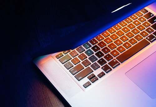 computer silver MacBook keyboard