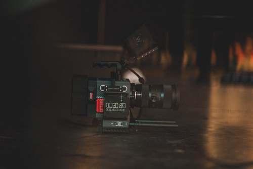 camera tilt shift lens photography of black professional camera dragon