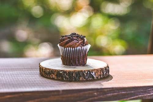 cream chocolate cupcake dessert