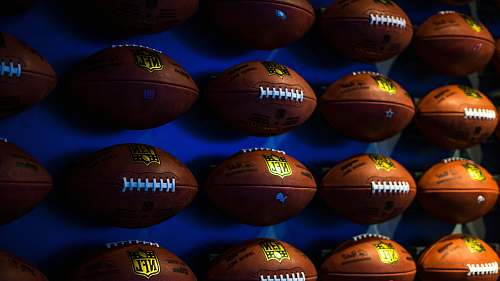 sports photo of assorted NFL football collection sport
