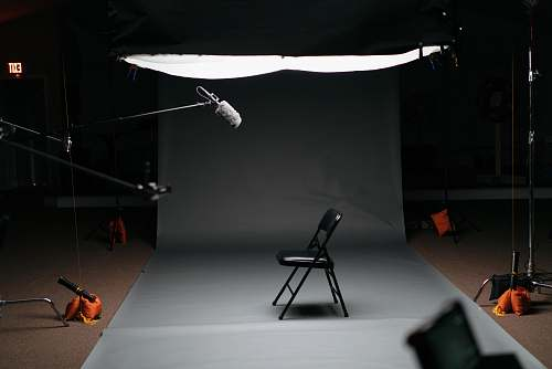 chair black folding chair on canvas lighting