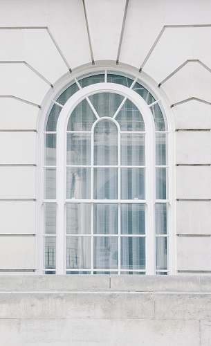 london glass window with white steel frame white