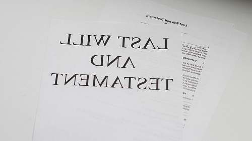 black-and-white last will and testament white printer paper paper