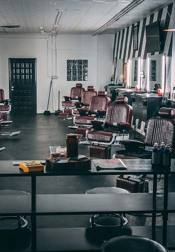 business brown leather barber chairs in room chairs