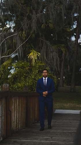 people man in blue formal suit suit