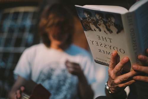 person person reading book people