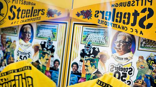 person Pittsburgh Steelers AFC champions sign people