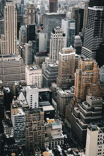 nature aerial photo of high rise buildings outdoors