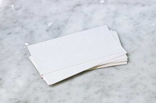 blank white printer paper mock