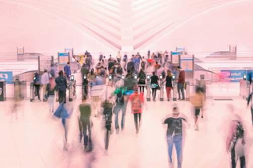 human people inside mall people