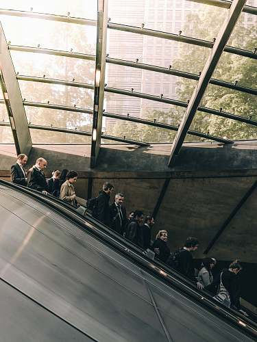 people people using escalator during daytime london