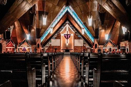 business brown church interior church