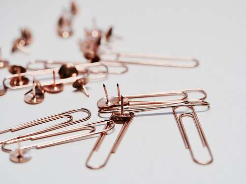 paper clip brass paper pin lot pins