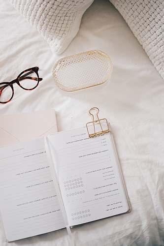 book white printer paper diary