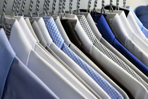 pattern hanged assorted-color dress shirts background