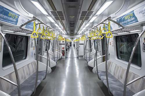 subway train car interior transportation