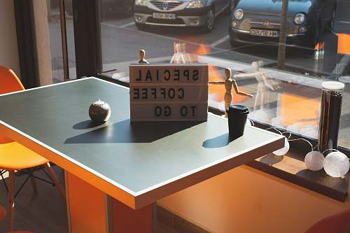 automobile gray wooden board on table car