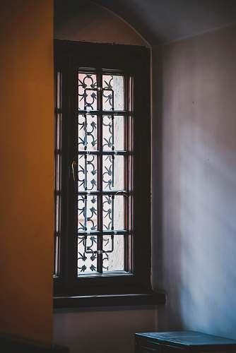 door closed brown window garden