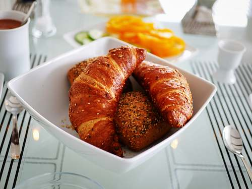 food bowl of croissants croissant