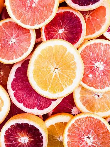 food sliced grapefruits fruit