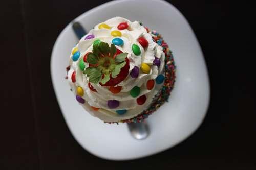 cake multicolored cupcakes creme