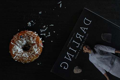 food Darling book on black surface donut