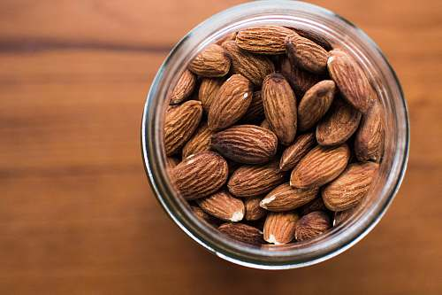 flora almonds nuts in jar seed