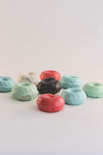 sweets assorted-color clays on white surface confectionery