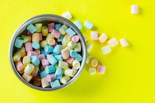 confectionery assorted-color marshmallow sweets