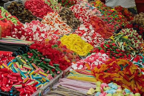 confectionery assorted-colored candies sweets