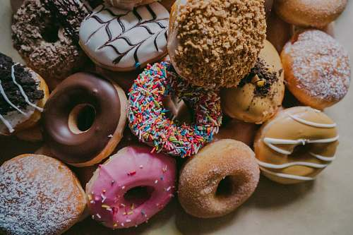 donut assorted flavor donuts pastry