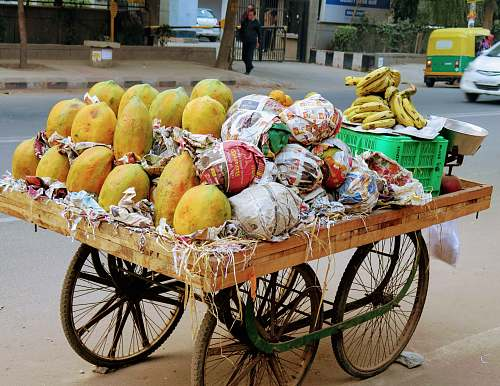fruit assorted fruits on fruit rack produce